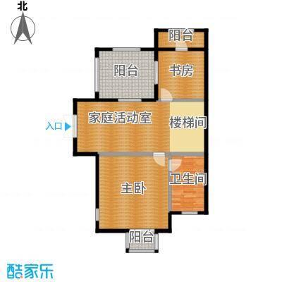 柏悦澜庭76.00㎡别墅G1三层户型10室