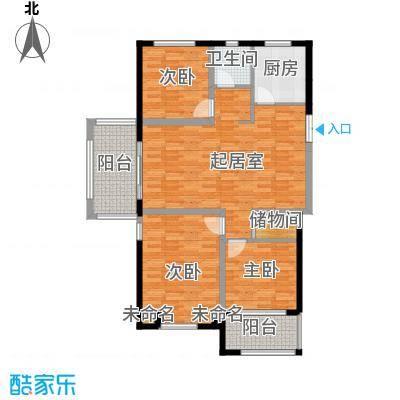 柏悦澜庭107.00㎡公寓C1户型3室2厅1卫