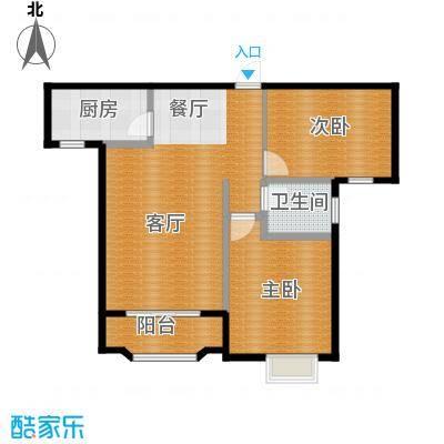 美树湾90.22㎡B/2户型2室2厅1卫
