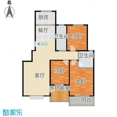 美树湾135.90㎡A/2户型3室2厅2卫