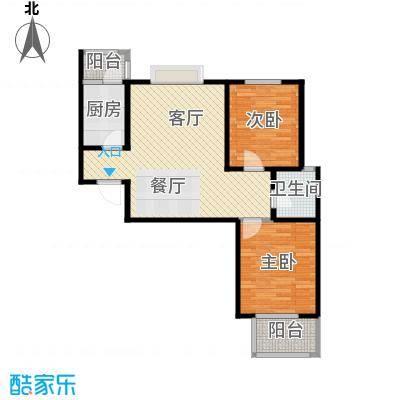天地荣域93.41㎡M亲情领地6#户型2室2厅1卫
