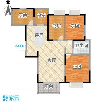 金浦名城世家112.76㎡C7户型3室2厅1卫