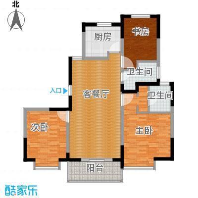 金浦名城世家111.97㎡2号楼C5户型3室2厅2卫