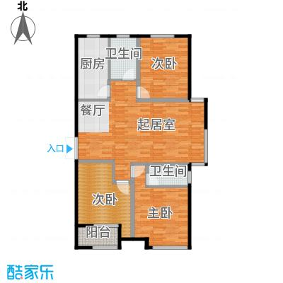 想象国际127.14㎡P户型3室2厅2卫