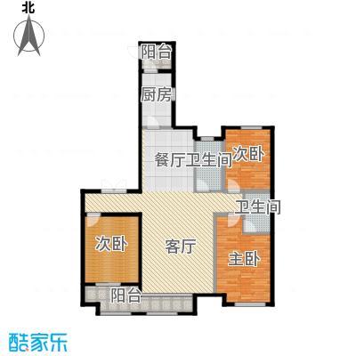 想象国际156.05㎡U户型3室2厅2卫