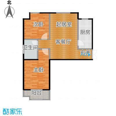 想象国际89.85㎡A1户型2室2厅1卫
