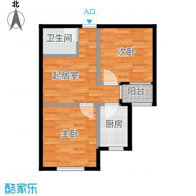 想象国际64.50㎡S户型2室1厅1卫