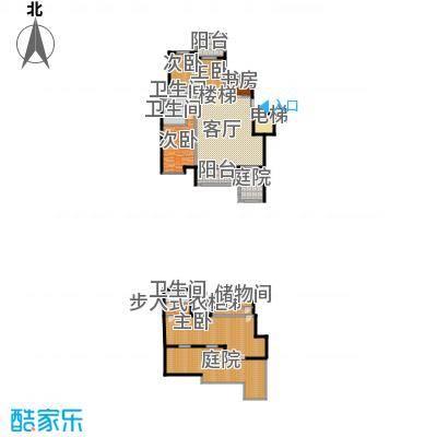 天山熙湖138.00㎡洋房E户型3室2厅2卫