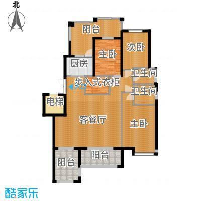 天山熙湖138.00㎡洋房D户型3室2厅2卫