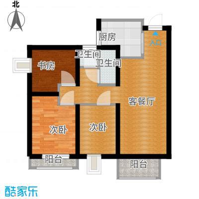 天山熙湖99.00㎡10、16号楼高层户型3室2厅1卫