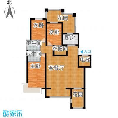 天山熙湖138.00㎡洋房C户型3室2厅2卫