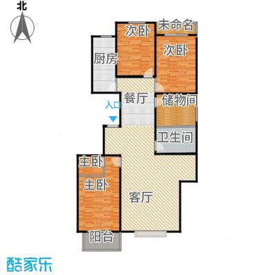 居美颐园169.47㎡28-20&nbsp&nbsp户型4室1厅1卫1厨