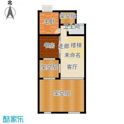 御江金城62.72㎡K1型二层户型10室