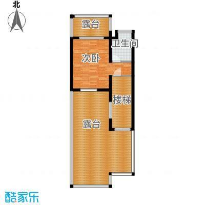 锦绣四明44.43㎡联排G三层平面户型1室1卫