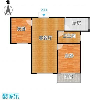 紫晶悦城92.82㎡E户型2室2厅1卫