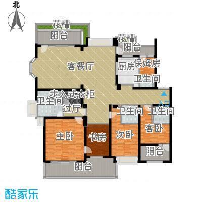 天正滨江226.29㎡C1型户型4室1厅4卫1厨