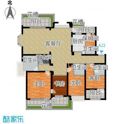 天正滨江226.29㎡C1建筑户型4室1厅4卫1厨