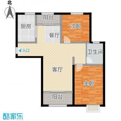 恒盛豪庭111.00㎡H-4户型2室2厅1卫