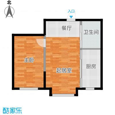 新星宇和源60.44㎡34#-05户型1室2厅1卫