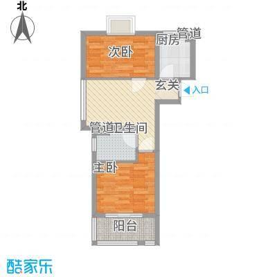 上海绿地香颂公寓63.61㎡上海绿地香颂公寓户型图公寓C户型(售罄)2室1厅1卫户型2室1厅1卫