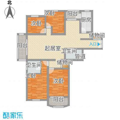 创世纪花园146.00㎡创世纪花园3室户型3室