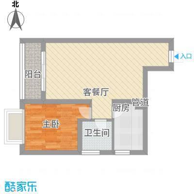 鑫苑碧水尚景53.81㎡鑫苑碧水尚景1室户型1室