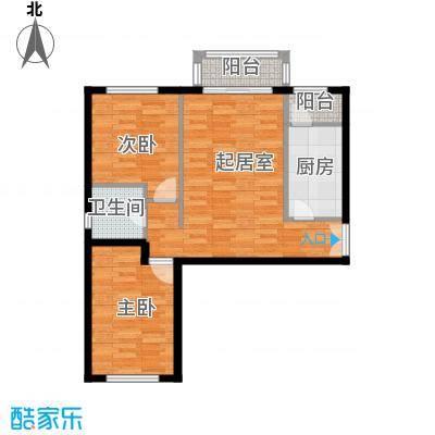 银丰花园101.00㎡2号楼B1户型2室1卫1厨
