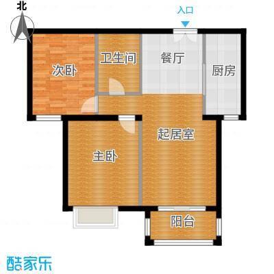 银丰花园108.00㎡10号楼B3户型2室1卫1厨