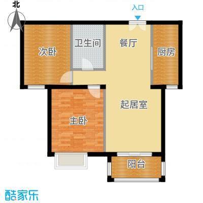 银丰花园101.00㎡6号楼B3户型2室1卫1厨