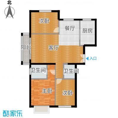 银丰花园127.00㎡3号楼11号楼G1户型3室1厅2卫1厨