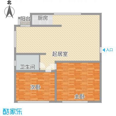 弘基书香园(三期) 2室 户型图