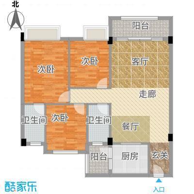 大福名城大福名城户型图103.73m2精致三房户型10室