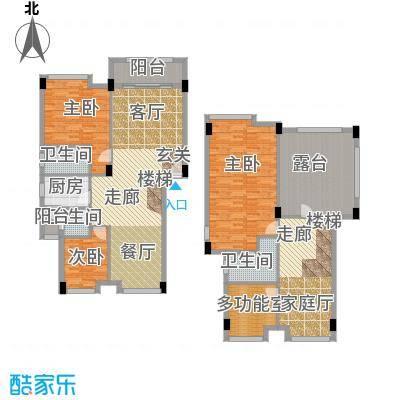 大福名城大福名城户型图177.9-190.88m2复式四房户型10室