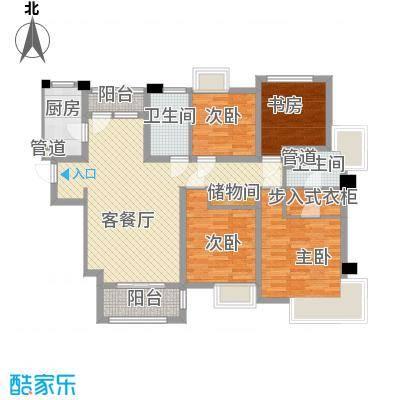 宝华海湾城133.00㎡宝华海湾城户型图6号三房户型图3室2厅2卫1厨户型3室2厅2卫1厨