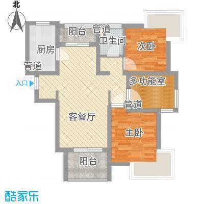 宝华海湾城88.00㎡宝华海湾城户型图户型图2室2厅1卫户型2室2厅1卫