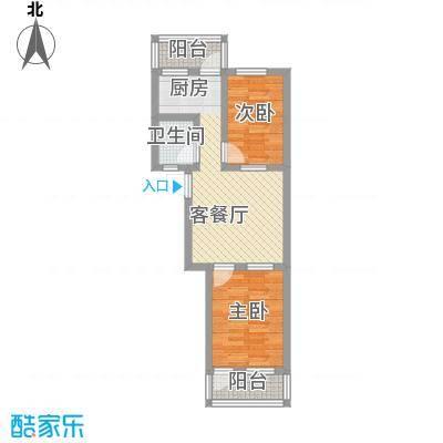 王官庄小区67.36㎡王官庄小区户型图2室2厅1卫户型10室
