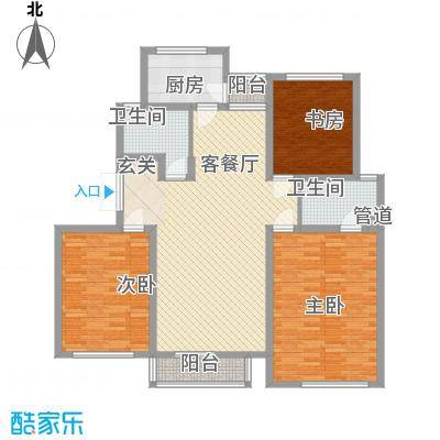 境界梅江观秀158.00㎡境界梅江观秀户型图一期高层标准层B2户型图3室2厅2卫1厨户型3室2厅2卫1厨
