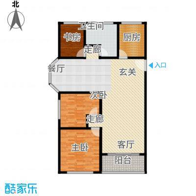 卢湾都市花园126.02㎡上海卢湾都市花园户型10室