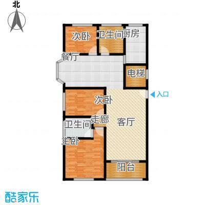 卢湾都市花园125.82㎡上海卢湾都市花园户型10室