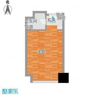 亚太广场二期50.00㎡亚太广场二期户型图住宅布置图1室1卫1厨户型1室1卫1厨