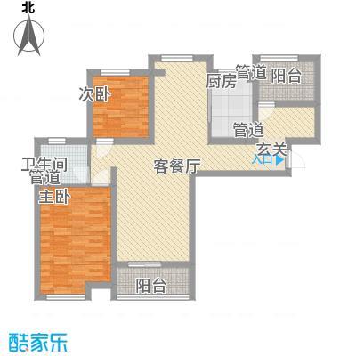世茂东外滩110.00㎡世茂东外滩户型图户型图-E12室2厅1卫1厨户型2室2厅1卫1厨
