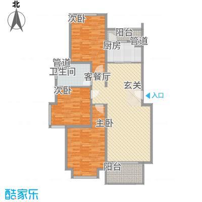 天山河畔花园天山河畔花园3号标准层三房户型10室