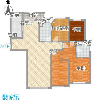 公馆77162.98㎡公馆77户型图4房户型4室2厅2卫户型4室2厅2卫