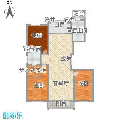 万科蓝山167.00㎡万科蓝山户型图U5户型图3室2厅2卫户型3室2厅2卫