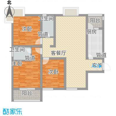 济发泉星123.00㎡济发泉星户型图C5-E(售完)3室2厅2卫1厨户型3室2厅2卫1厨