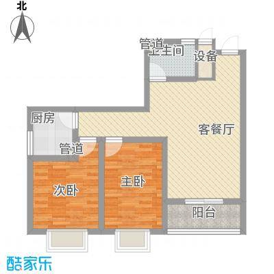 新徐印象95.53㎡新徐印象户型图户型1-B2室2厅1卫户型2室2厅1卫