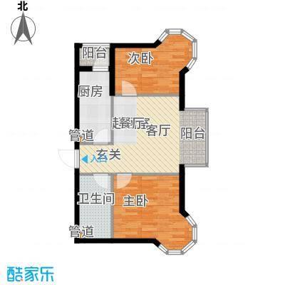 佳和新城六期81.40㎡佳和新城六期户型图F户型2室1厅1卫户型2室1厅1卫