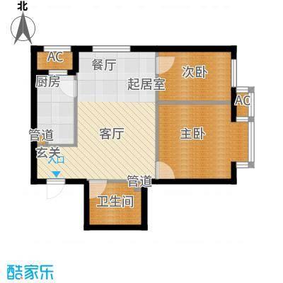富海澜湾半岛62.00㎡富海澜湾半岛户型图N户型2室2厅1卫户型2室2厅1卫