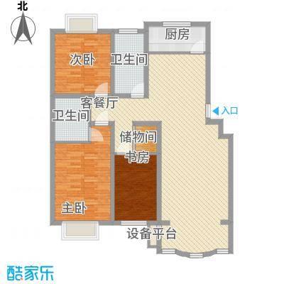 正大明泉花园128.58㎡正大明泉花园户型图3室2厅2卫户型10室