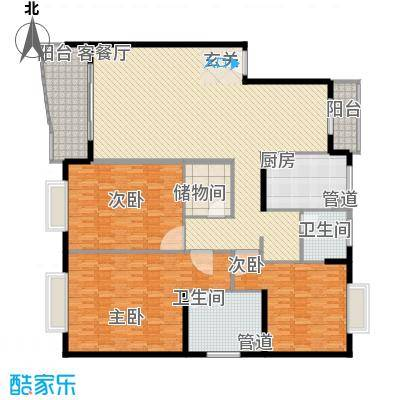 久事西郊花园256.00㎡久事西郊花园4室户型4室